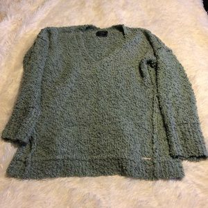 Abercrombie & Fitch mint green boucle sweater L